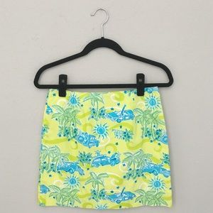 🌴 Lilly Pulitzer ✦ Safari Print Skirt ✦ Yellow